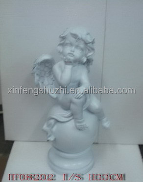 Resin Christmas Cupid Statues for Christmas Decoration, OEM Christmas Cupid States, High quality
