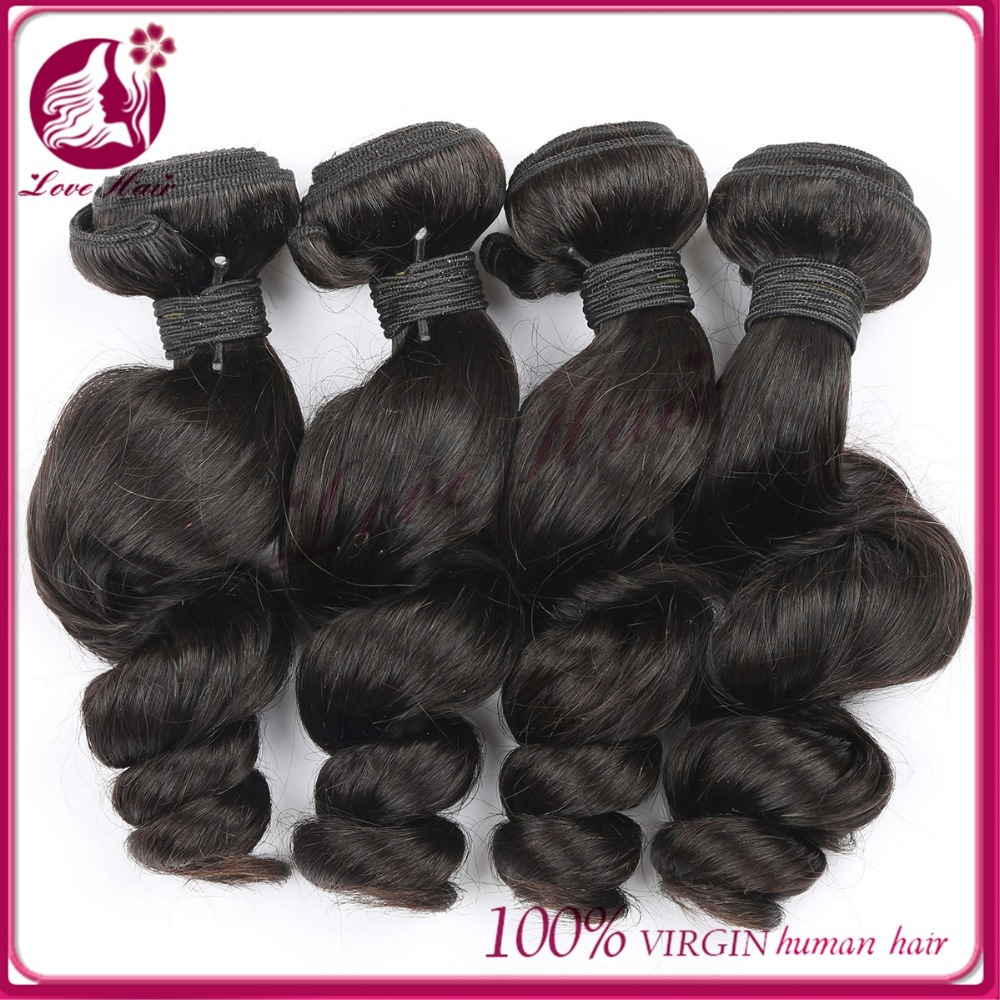 Virgin human hair loose wave soft human hair extension virgin chinese hair vendor
