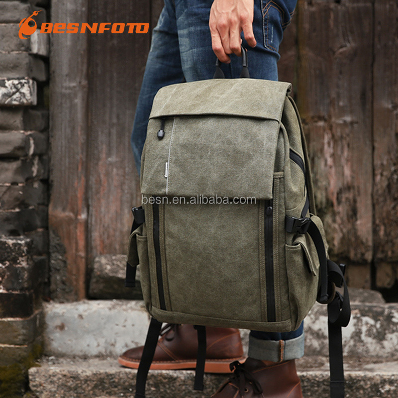Canvas Backpack Bag High quality Laptop Backpack Waterproof Camera Bag