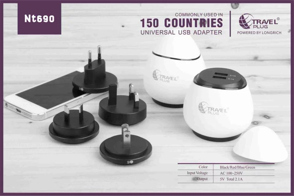 2016 hot sale mobile accessories, schuko plug adapter NT690 egg usb port