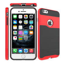 Free samples case covers compatible for iPhone 6 graceful TPU+PC cover