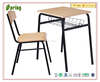 Popular and cheap single desk and chairs used in school CT-327