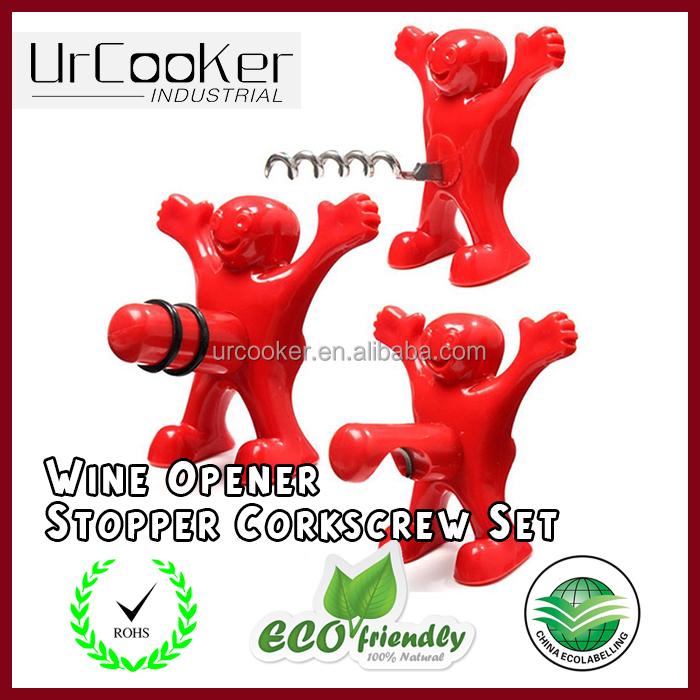 3pcs plastic wine opener funny happy man guy wholesale wine stoppers buy wine opener wholesale - Funny wine openers ...