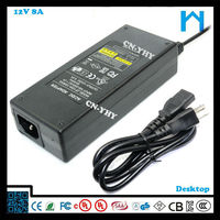 12v switch power supply desktop led driver 96w rechargeable battery charger 8A