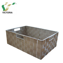 Qingdao Victoria Nylon Webbing Woven Storage Basket With Handle For Sundries