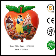 Fashionable designed helium balloon for kids,wholesale inflatable Snow White Apple helium foil balloon