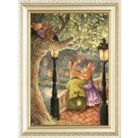 Good pattern lovely rabbits oil painting by numbers wholesale