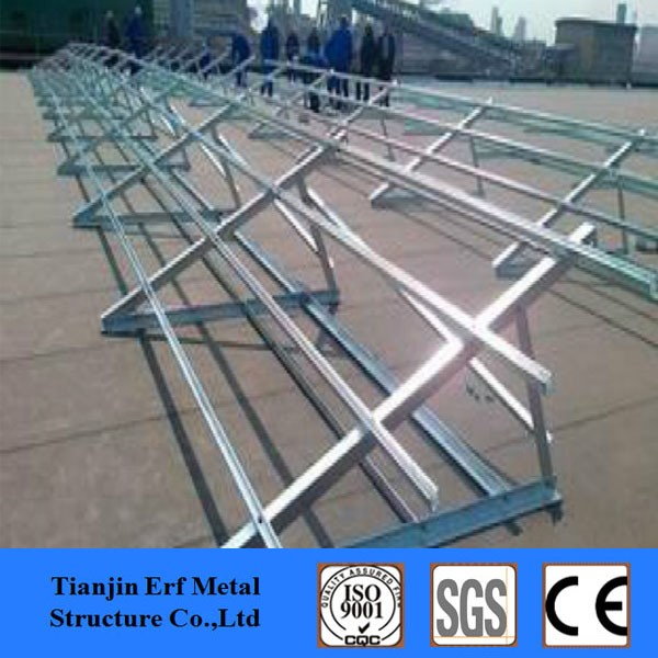 41x41 c beam steel channel support solar panel system
