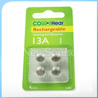 13A Rechargeable Battery Hearing Aid Battery lithium rechargeable coin cell