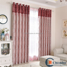 Latest designs suede eyelet blockout curtains