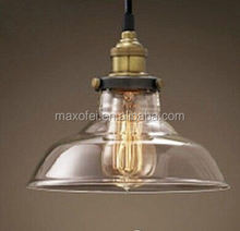 Industrial Vintage Style Light Fitting Glass Ceiling Pendant Lamp Shade Light Lighting For Kitchen Loft Bedroom Office