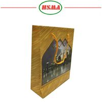 High quality OEM brown kraft paper gift bags custom size embossing pattern plastic bags with twist handle