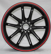 black rim with red line 18inch bullet alloy wheels