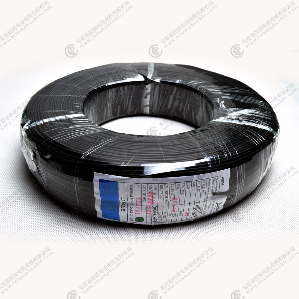 Halogen-free thermoplastic & flame retardant Wire UL Approval 3321 AWG 12 16 18 Stranded Wire 600V 125C