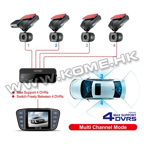 2015 New Spy Gadgets Multi Channel 4 Cameras Car DVR CR900 Car DVR Good Night Vision Camera for Taxi System