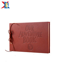 Our Adventure Book Leather Cover Adventure Photo Album DIY Scrapbook Wedding Guest Book