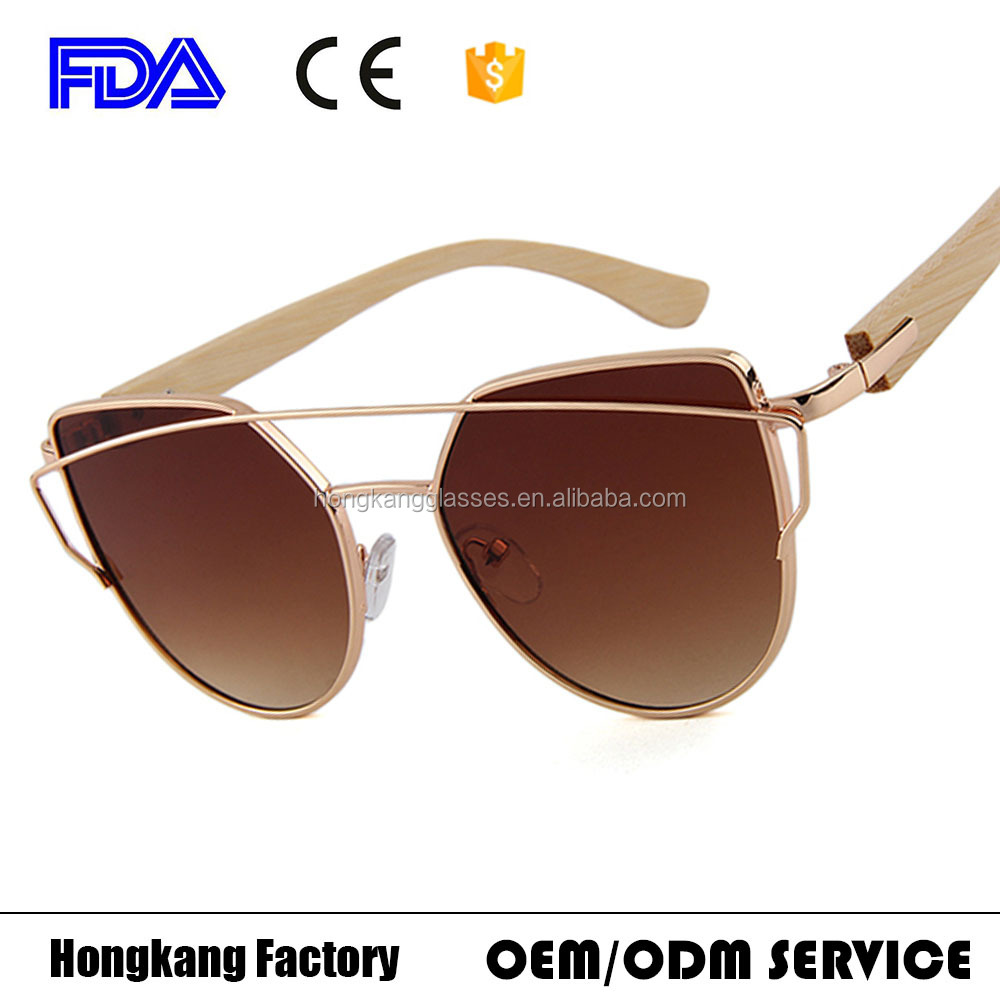 HongKang Hot sale oversize Luxury sunglasses round women metal sunglasses Plain sunnies
