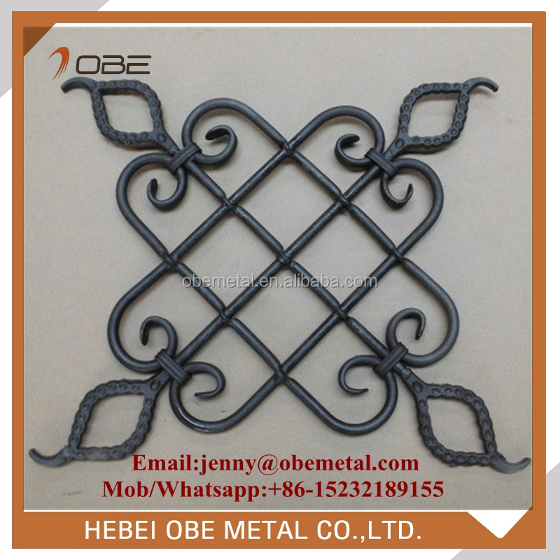 Garden Gates, Fences Decorative Parts Wrought Iron Ornamental Forged Steel Rosettes