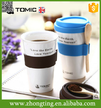 Wonderful gift Personalized custom print cheap ceramic silicone coffee cup sleeve