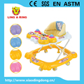 Height adjustable walker for baby with lighting music board Fashion baby walker with music