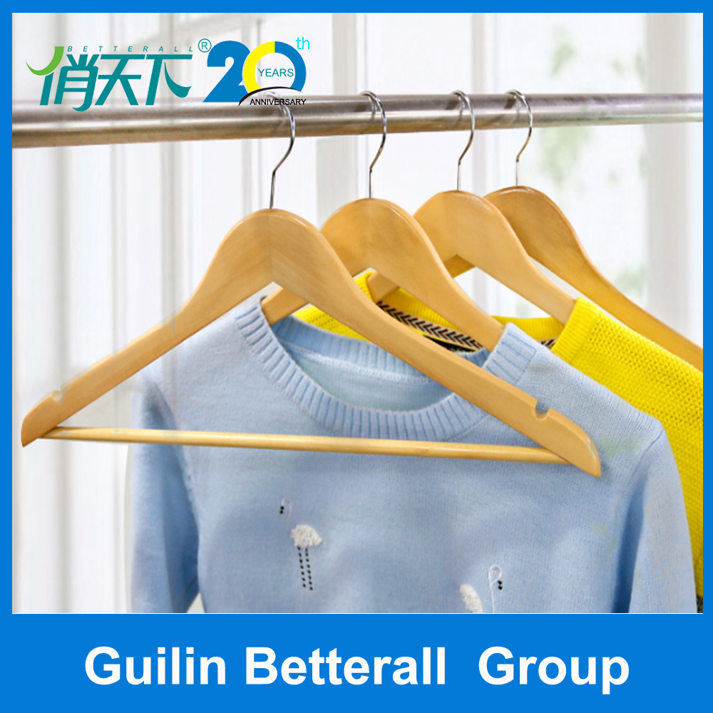 Wholesale hot sale luxury high quality hotel or garment use wooden suit coat shirt clothes shop clothes hanger stand
