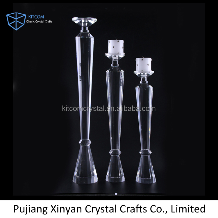 2016 sanctity crystal candle holder for event activity decoration