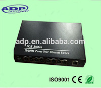 POE switch 10/100M POE managed optical fiber