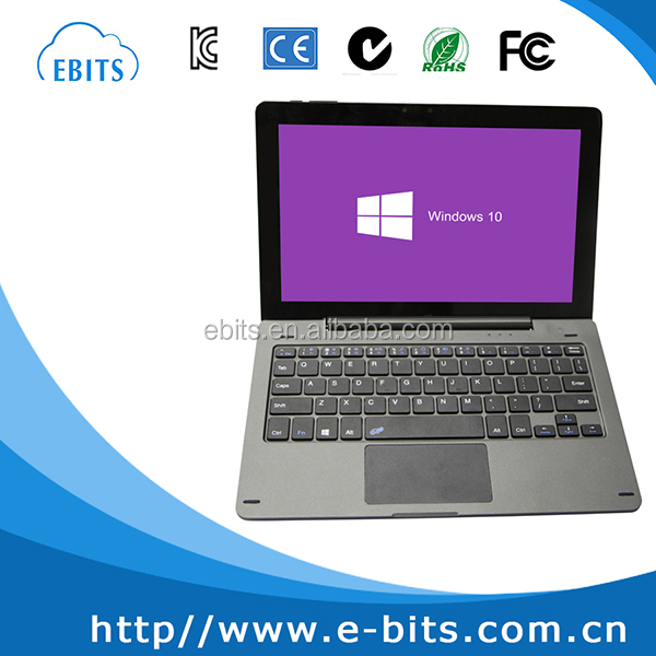 For windows system ABS plastic panel rotatable hinge laptop keyboard with touchpad
