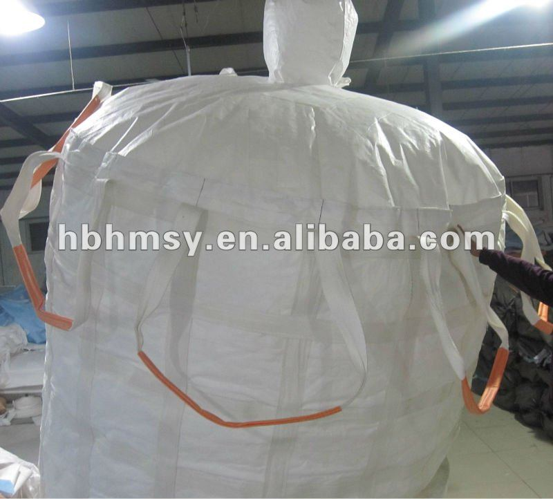 Filling Spout Top Flat Bottom 90*90*90cm Breathable PP Bulk Bag 1 Ton Jumbo Bag Flexible Container Bag For Potato Or Union
