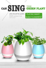Logo Print Kids Christmas Promotion Gift Music Play Flower Pot Stress Relief Office Plant Pot