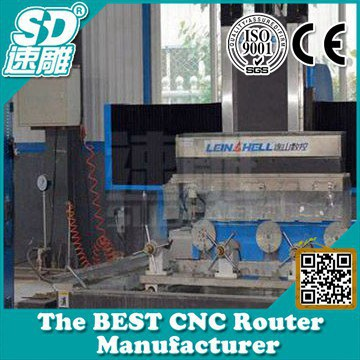 High precision Jinan Sudiao Stone CNC Router SD1325 black brick,floor slab Stone making machine 4 axis CE certificate! Top one!