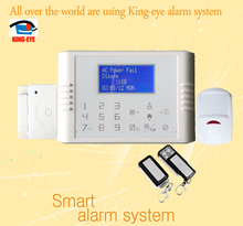 Android / IOS app control wired gsm home automation security alarm system with two-way intercom