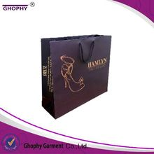 paper bag with bow tie ribbon,custom size and logo,sell hot in china