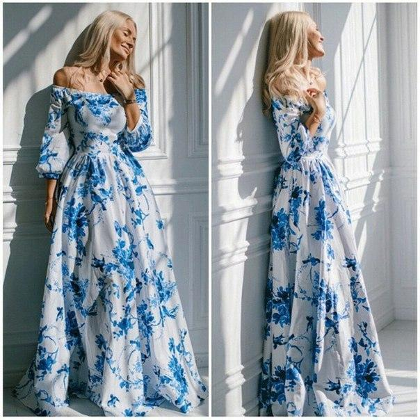 Vintage Women Long Maxi Dress