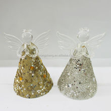 decorative hand painted christmas tree angel bell