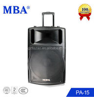 Multimedia professional portable speaker with plastic, ,usb,sd card,fm radio,remote