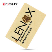Low Cost RFID Wood Card Custom Printing Wooden Cards