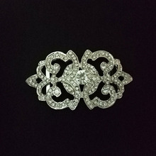 Sparkly Rhinestone Wedding Chair Sash Buckle Decorative Sash Buckles Wholesale