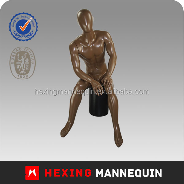 2014 new design hot sitting male mannequin,very young model