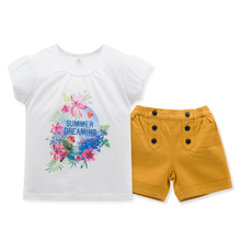Personality Kids Girl Clothes Set Brown Pants Summer Wear 100% Cotton 2-6T Baby Wear Wholesale Children's Boutique Clothes