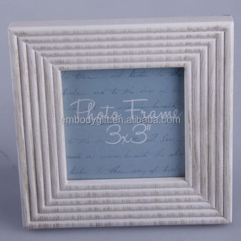 "High Quality 3*3"" MDF Photo Frame With Cream Colour"