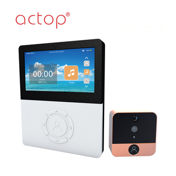 Shenzhen ACTOP New design peephole door wifi camera remote unlock with iPad/iPhone/Android phone