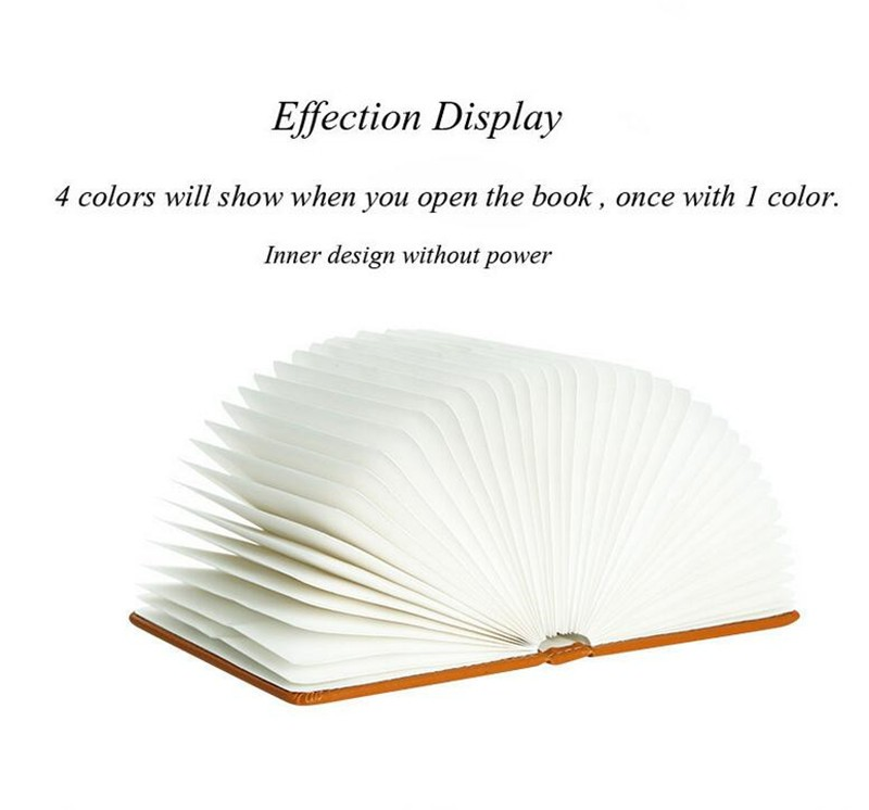 Folding book shaped lamp seven light colors led book light with blue tooth speaker