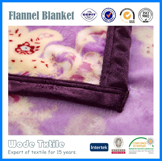 China market super soft customized printing flannel blankets