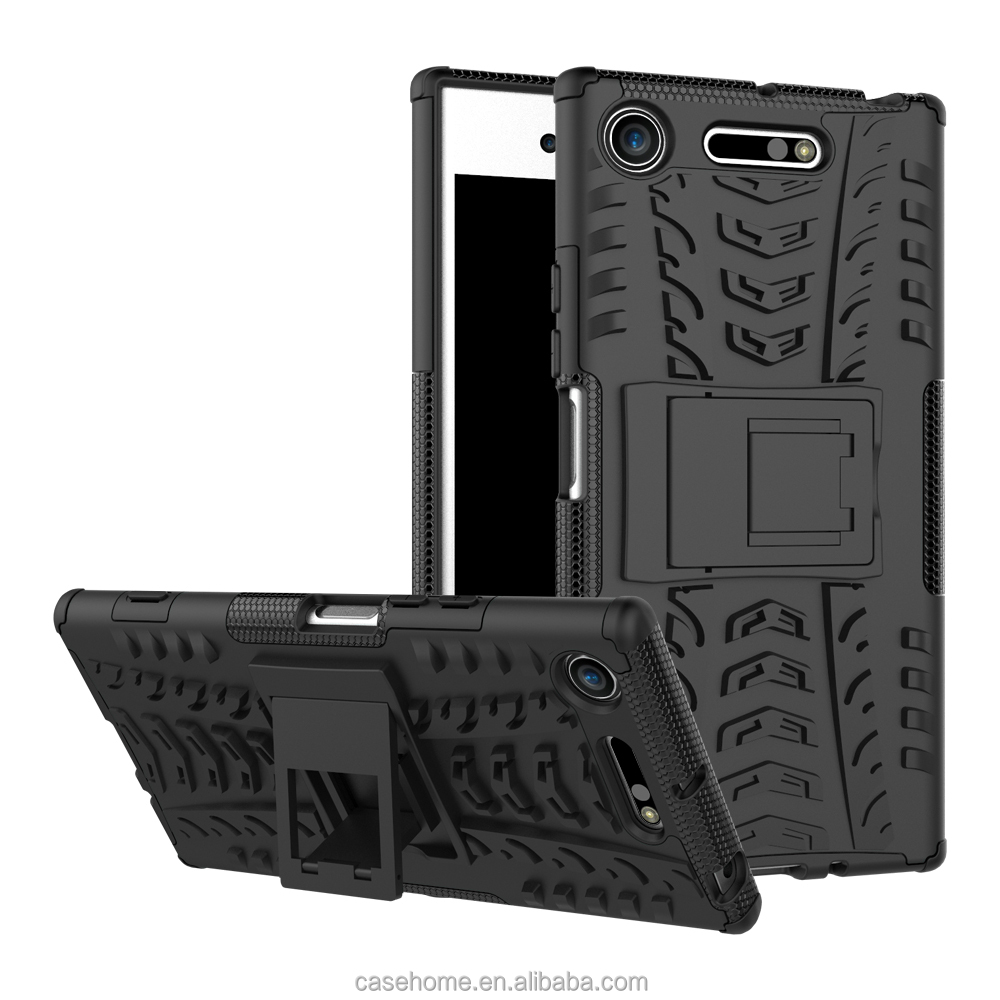 Awesome Armor Foldable Movie Stand Slim Cover, New Ultra Hybrid 2 In 1 Thin Anti Scratch Protect Phone Case For Sony Xperia XZ1