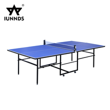 Portable table tennis training equipment fold up pingpong table with wheels
