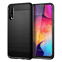 2019 In stock For Samsung Galaxy A10 A30 A50 Cover waterproof Carbon Fiber Soft TPU Mobile Phone Case For Samsung A10 cover