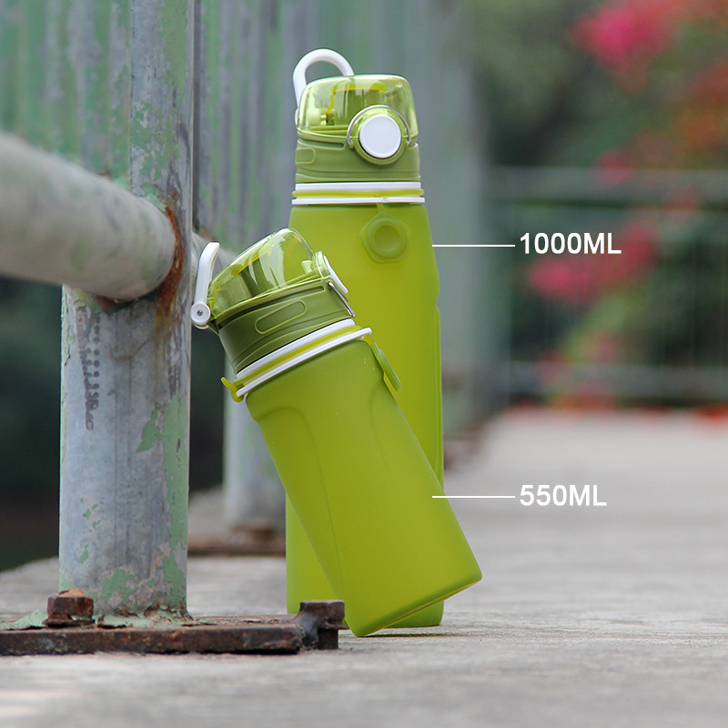 Patent protect silicone bpa free leakproof water canteen