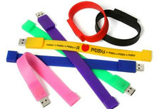 Fantastic gift Bulk 2GB Bracelet USB Flash Drives with free logo printing