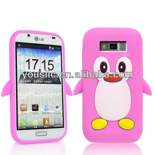 PENGUIN SILICONE SKIN MOBILE PHONE CASE COVER FOR LG Optimus L7 P700 / P705